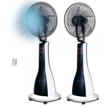 Ventilador de pie con nebulizador integrado y mando a distancia