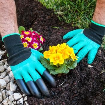 Guantes de Jardinería con Garras para Cavar