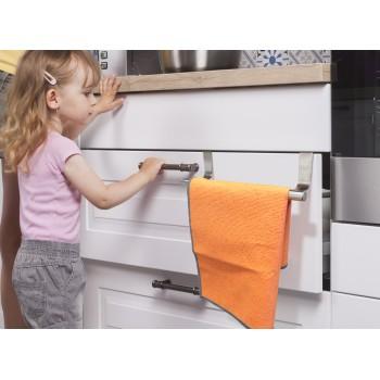 Colgador cromado para paños o toallas simple ó doble