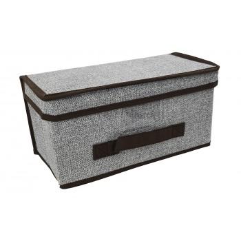 Caja de almacenaje con tapa y asa (30 x 15 x 15 cm)