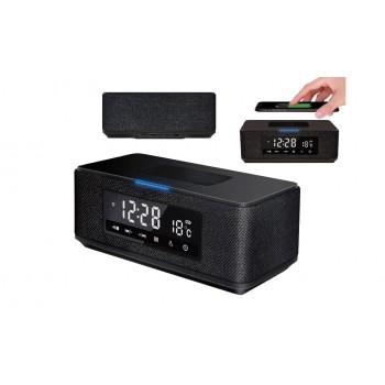 PLATINET ALTAVOZ BLUETOOTH QI FM RELOJ USB MSD RADIO