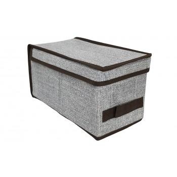 Caja de almacenaje con tapa y asa (15 x 30 x 15 cm)
