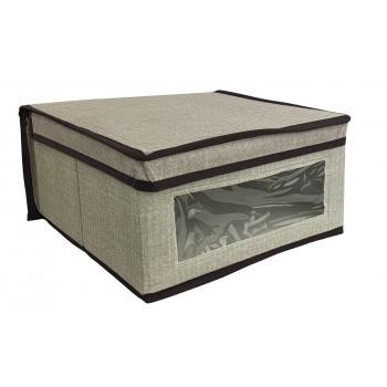 Caja de almacenaje con tapa (30 x 28 x 15 cm)