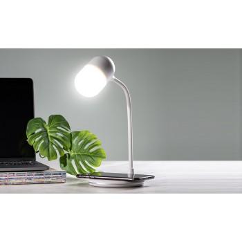 LAMPARA MULTIFUNCIÓN (LUZ LED, CARGA QI Y ALTAVOZ BT)