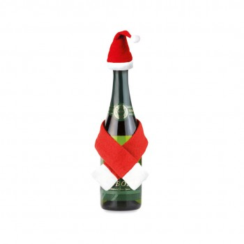 Set 4 unidades para adorno de botellas en original diseño navideño