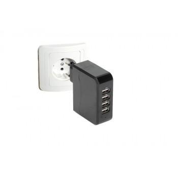Adaptador enchufe con 4 salidas USB