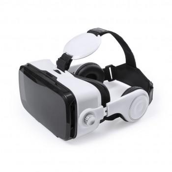 Gafas de realidad virtual con botón interactivo y auriculares incluidos