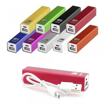 Pack de 2 Baterías externas de aluminio en llamativos colores de 2.200 mAh