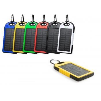 Resistente batería auxiliar externa de recarga solar, resistente a las salpicaduras de agua y de  -4.000 mAh-
