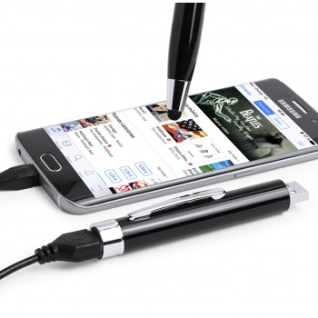 Bolígrafo tecnológico multifunción con batería auxiliar externa de 650 mAh