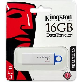 Unidad Flash USB DataTraveler G4 de 16 Gb con llavero y carcasa metálica