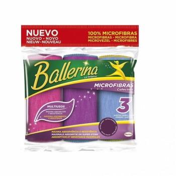 3 Bayetas Multiusos Microfibras collection BALLERINA - Colores surtidos