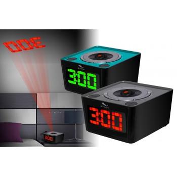 Radio despertador con función de proyección
