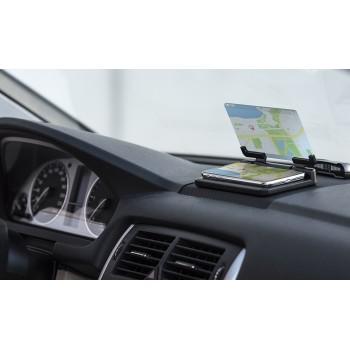 Pantalla soporte para automóvil con espejo duplicador de imagen