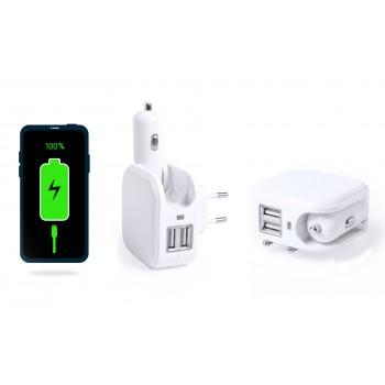 Multi-Cargador USB para casa y coche (2 en 1)