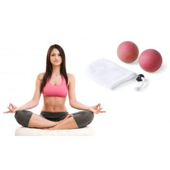 Pareja de bolas de Yoga en suave caucho natural