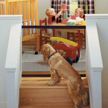Portable door for pets with...
