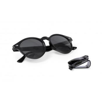 Gafas de sol unisex con protección UV400 con clip para el parasol del coche
