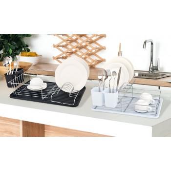 Escurridor de platos con bandeja de goteo extraible