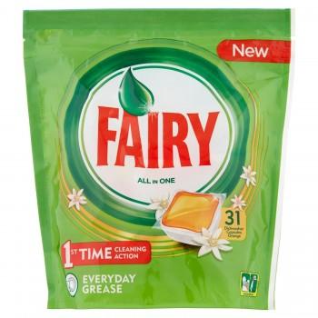 Fairy Todo en 1 Cápsulas de Lavavajillas Naranja X 3 unidades