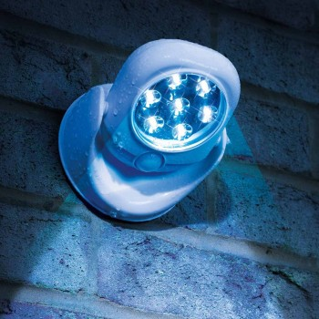 LED security light with motion activation
