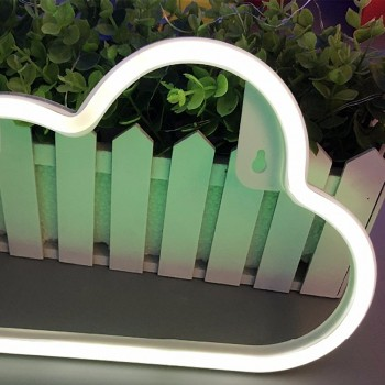 Neon decorative lamp with Cloud shape