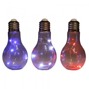 Bombilla de luz decorativa gigante con 3 leds