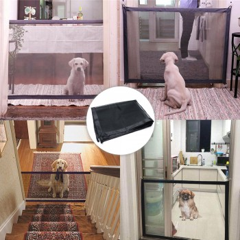 Portable door for pets with fixings